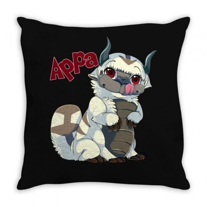Appa Avatar Throw Pillow Designed By Shoptee