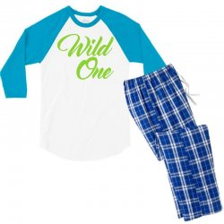 Wild One Men's 3/4 Sleeve Pajama Set | Artistshot
