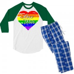 Love Wins One Pulse Orlando Strong Men's 3/4 Sleeve Pajama Set | Artistshot