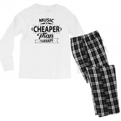 Music Is Cheaper Than Therapy Men's Long Sleeve Pajama Set | Artistshot