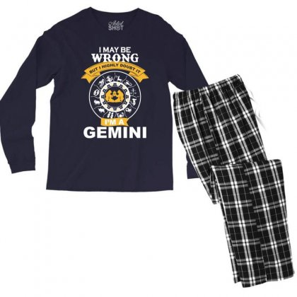 Gemini -i Am A Gemini Men's Long Sleeve Pajama Set Designed By Rardesign