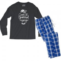 music is the universal language of mankind Men's Long Sleeve Pajama Set | Artistshot