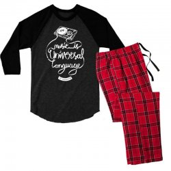 music is the universal language of mankind Men's 3/4 Sleeve Pajama Set | Artistshot
