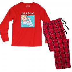 funny gym elsa let it grow frozen fitness Men's Long Sleeve Pajama Set | Artistshot