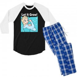 funny gym elsa let it grow frozen fitness Men's 3/4 Sleeve Pajama Set | Artistshot