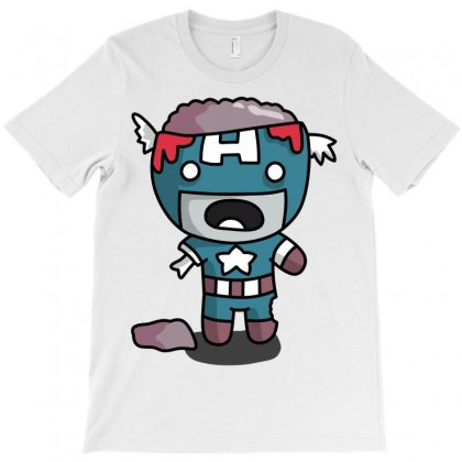 Captain America Zombie T-shirt Designed By Shoptee