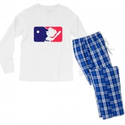 Peanuts League Baseball Men's Long Sleeve Pajama Set | Artistshot