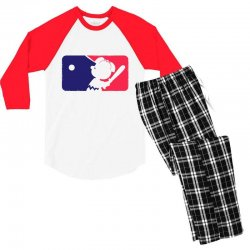 Peanuts League Baseball Men's 3/4 Sleeve Pajama Set | Artistshot