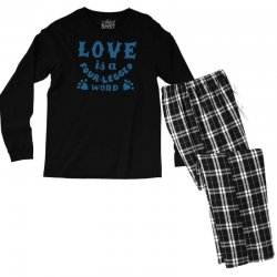 love is a four legged word Men's Long Sleeve Pajama Set | Artistshot