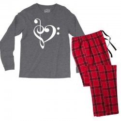 music heart rock baseball Men's Long Sleeve Pajama Set | Artistshot