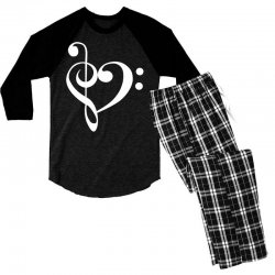 music heart rock baseball Men's 3/4 Sleeve Pajama Set | Artistshot