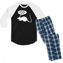 rat funny geek nerd scientific experiments are fun Men's 3/4 Sleeve Pajama Set | Artistshot