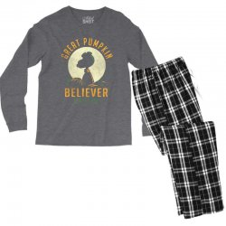 Great Pumpkin Believer Men's Long Sleeve Pajama Set | Artistshot