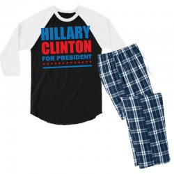 Hillary Clinton For President Men's 3/4 Sleeve Pajama Set | Artistshot