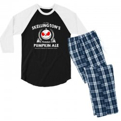 Skellington'spumpkin ale Men's 3/4 Sleeve Pajama Set | Artistshot