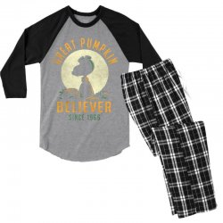 Great Pumpkin Believer Men's 3/4 Sleeve Pajama Set | Artistshot