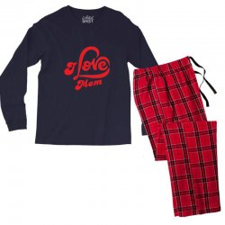 I love mom Men's Long Sleeve Pajama Set | Artistshot