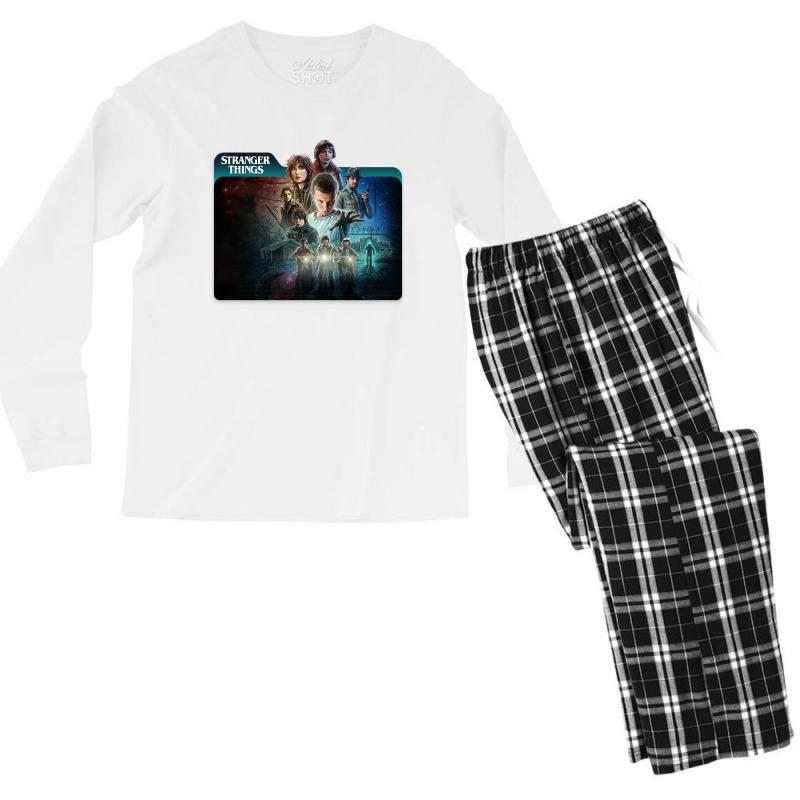 Stranger Things 01 Men's Long Sleeve Pajama Set | Artistshot
