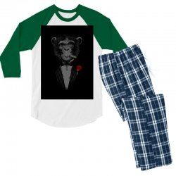 Monkey Busniseman Men's 3/4 Sleeve Pajama Set | Artistshot