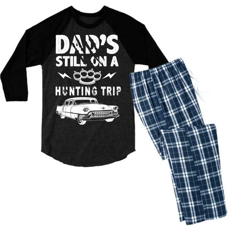 Dads Still On A Hunting Trip Men's 3/4 Sleeve Pajama Set | Artistshot