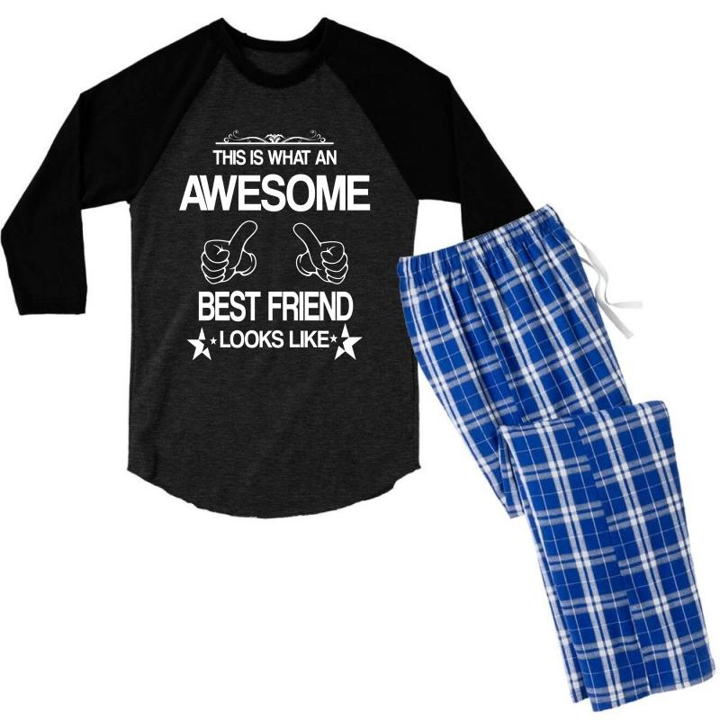 This  Is What An Awesome Best Friend Looks Like Men's 3/4 Sleeve Pajama Set | Artistshot