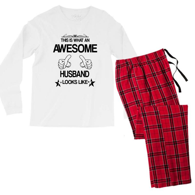 This Is What An Awesome Husband Looks Like Men's Long Sleeve Pajama Set | Artistshot