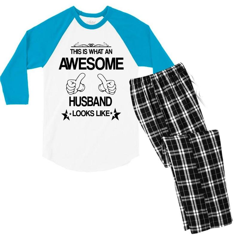 This Is What An Awesome Husband Looks Like Men's 3/4 Sleeve Pajama Set | Artistshot