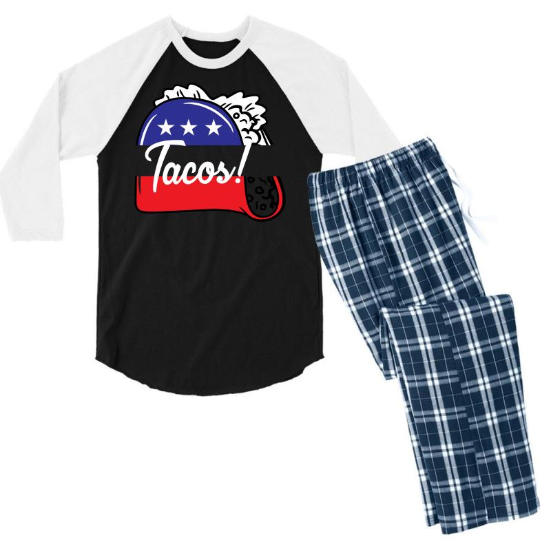 Tacos Political Men's 3/4 Sleeve Pajama Set | Artistshot