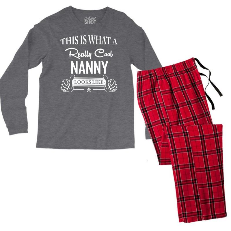 This Is What A Really Cool Nanny Looks Like Men's Long Sleeve Pajama Set | Artistshot