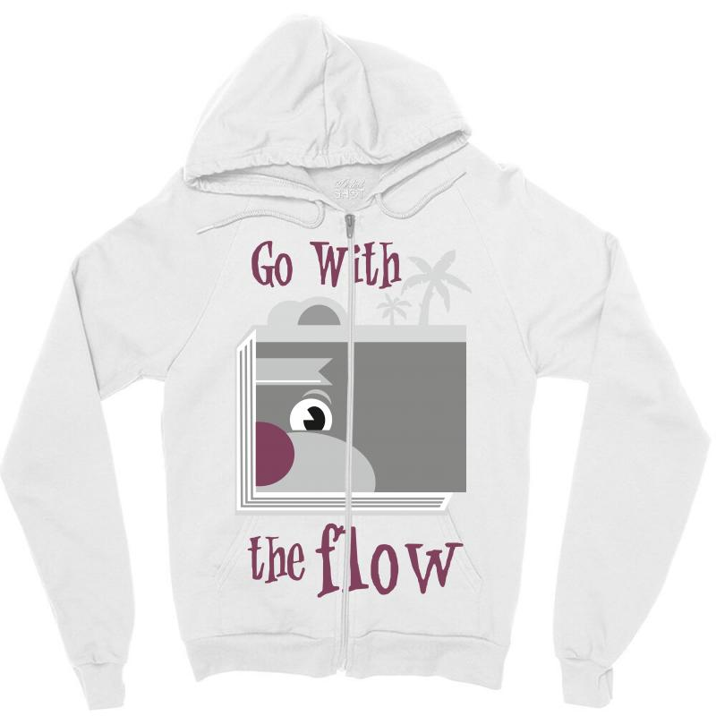 00ed26778 Custom Go With The Flow T Shirts Zipper Hoodie By Wizarts - Artistshot