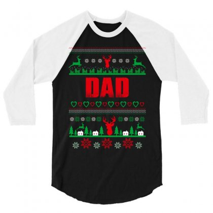 Dad 3/4 Sleeve Shirt Designed By Wizarts