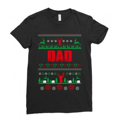 Dad Ladies Fitted T-shirt Designed By Wizarts