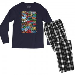 funny john lennon imagine quote Men's Long Sleeve Pajama Set | Artistshot
