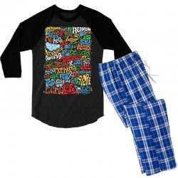 funny john lennon imagine quote Men's 3/4 Sleeve Pajama Set | Artistshot