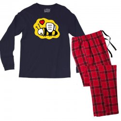 love bee lover valentine Men's Long Sleeve Pajama Set | Artistshot