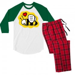 love bee lover valentine Men's 3/4 Sleeve Pajama Set | Artistshot