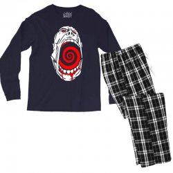 screaming face Men's Long Sleeve Pajama Set | Artistshot