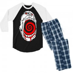 screaming face Men's 3/4 Sleeve Pajama Set | Artistshot
