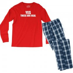 yes these are real funny Men's Long Sleeve Pajama Set | Artistshot