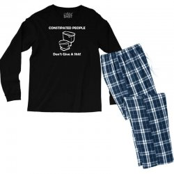constipated people Men's Long Sleeve Pajama Set | Artistshot