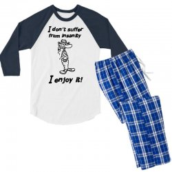 i don't suffer from insanity Men's 3/4 Sleeve Pajama Set | Artistshot