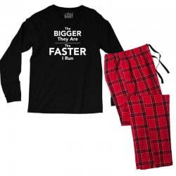 the bigger they are the faster Men's Long Sleeve Pajama Set | Artistshot