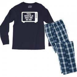 you should see me in hd Men's Long Sleeve Pajama Set | Artistshot