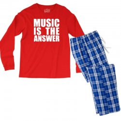 music is the answer printed Men's Long Sleeve Pajama Set | Artistshot