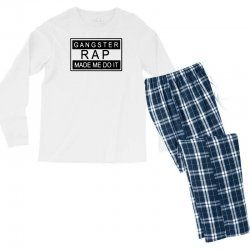 gangster rap made me do it Men's Long Sleeve Pajama Set | Artistshot