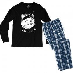thug cat Men's Long Sleeve Pajama Set | Artistshot