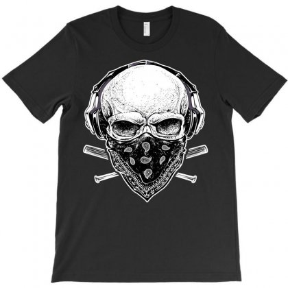 Skull And Music T-shirt Designed By Omer Acar