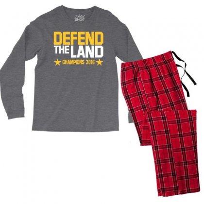 Cleveland Cavaliers Men's Long Sleeve Pajama Set Designed By Vr46