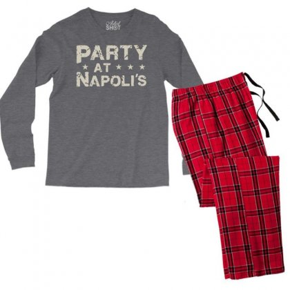 Party At Napolis Men's Long Sleeve Pajama Set Designed By Vr46