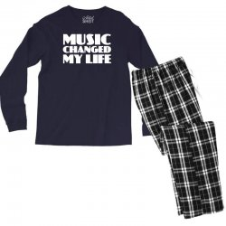 music changed my life Men's Long Sleeve Pajama Set | Artistshot